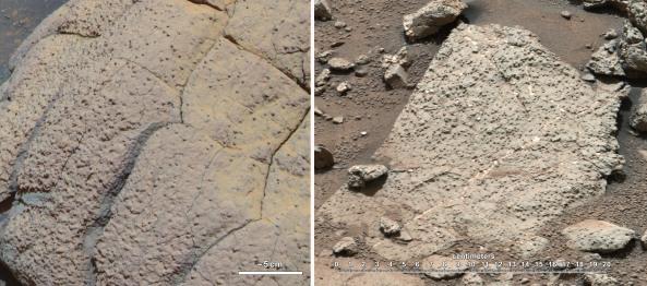 Dos tipos diferentes de ambientes habitables marcianos