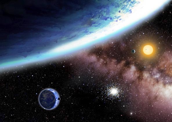 Recreación del nuevo sistema planetario hallado por Kepler
