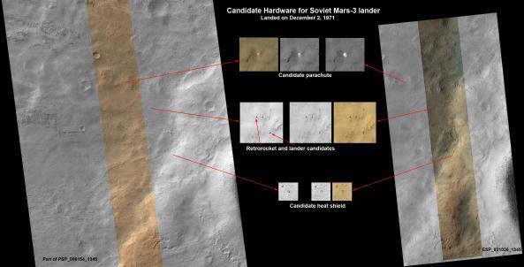 Imágenes de la Mars 3 que llegó a Marte en 1971