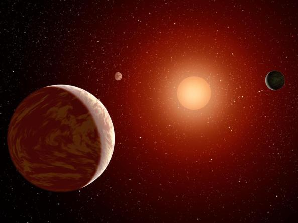 Recreación de un sistema planetario alrededor de una enana roja